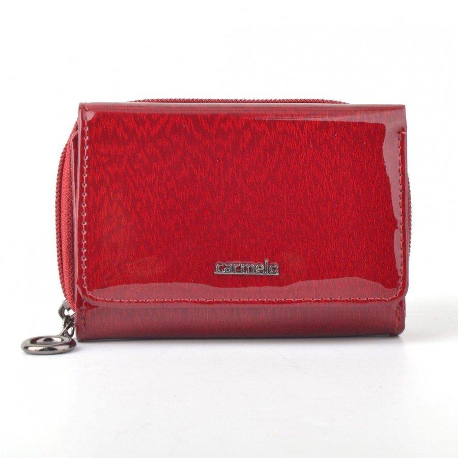 Dámská kožená peněženka CARMELO 2105 H červená poslední kus prodejna ... 8046bc3502
