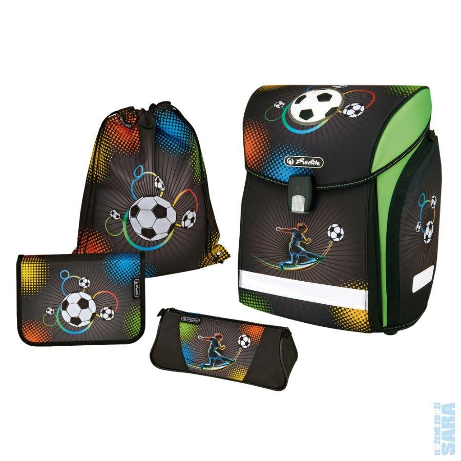 Školní aktovka Herlitz Midi Fotbal - 4 dílný set POSLEDNÍ KUS PRODEJNA d9a1eed2d7