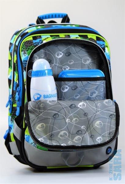 0661f20e49 Tříkomorový školní batoh pro prvňáčky s chobotnicí