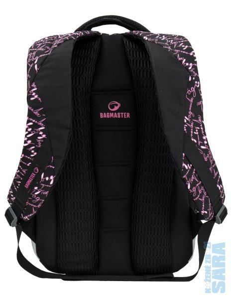 55f7d8d7bf Školní batoh MADISON 6 A Black pink poslední kus z prodejny ...