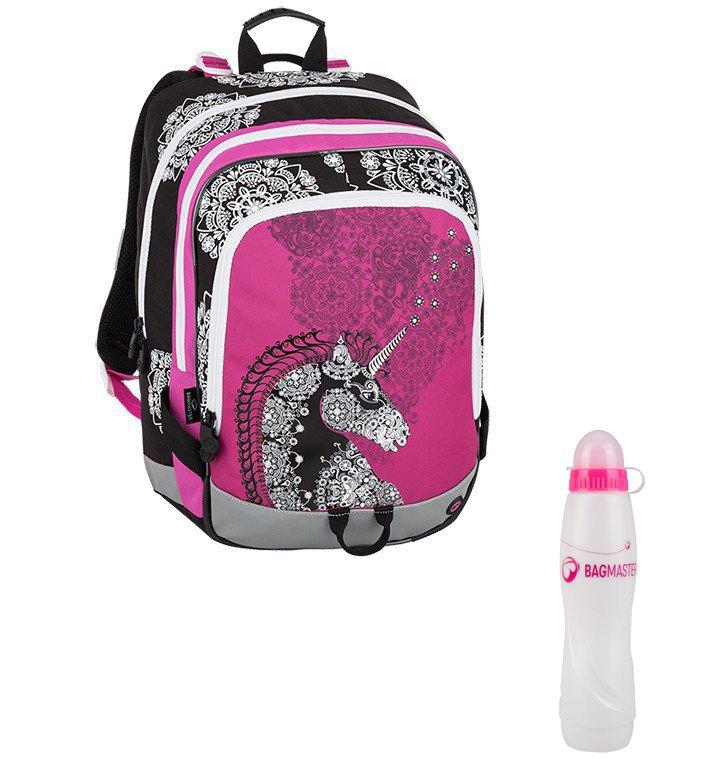 30f8837cb0 Školní batoh ALFA 8 B Pink black white