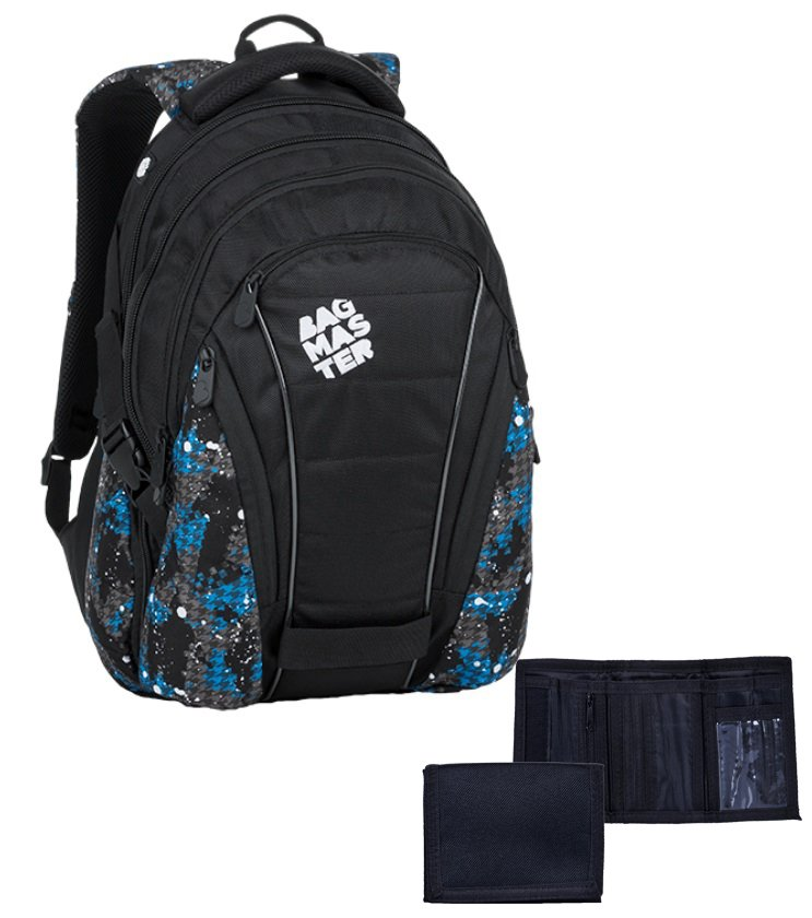 8c7a184e24 Studentský batoh Bag 9 D blue gray black