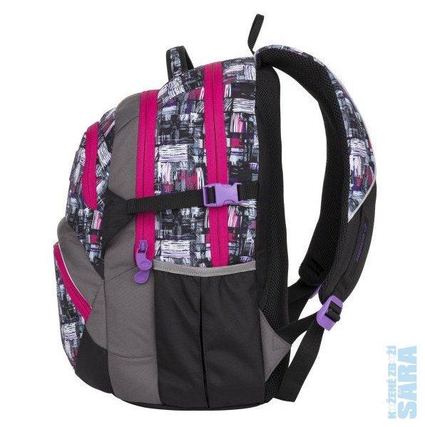 Školní batoh THEORY 8 A black gray pink 87075378a8