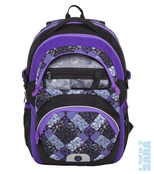 Školní batoh THEORY 8 B black violet grey Doprava zdarma 5877692608