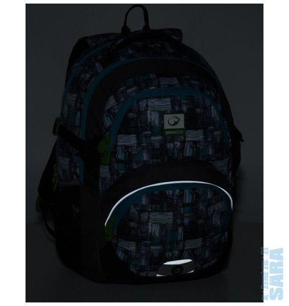 617f34d40 Školní batoh THEORY 8 C black/grey/green Doprava zdarma, Bagmaster.  Dvoukomorový, prostorný školní batoh od 3. třídy základní školy.  Polstrovaná záda.