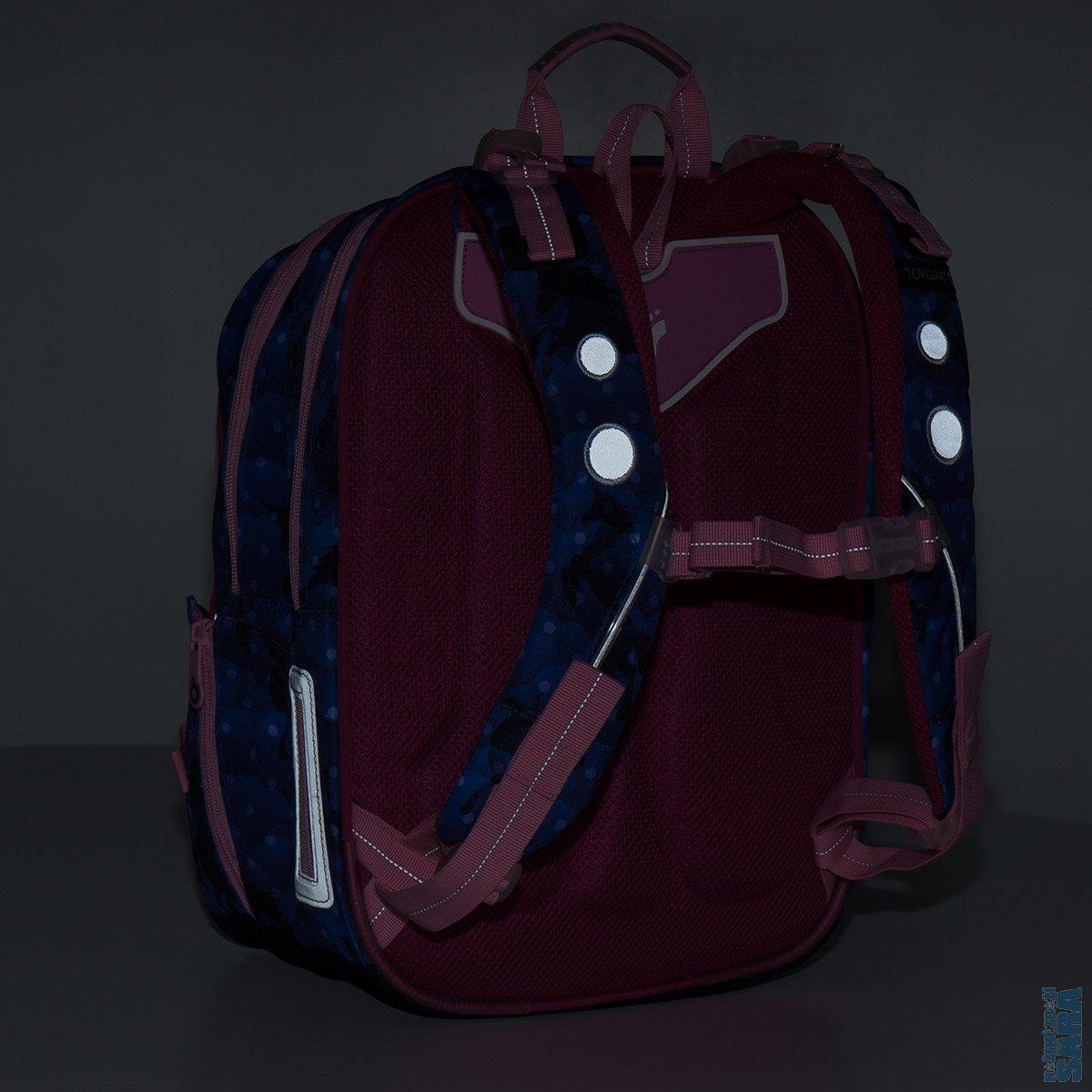 2abdb3749cf Dvoukomorový školní batoh pro holčičky s motivem jednorožce a přívěskem