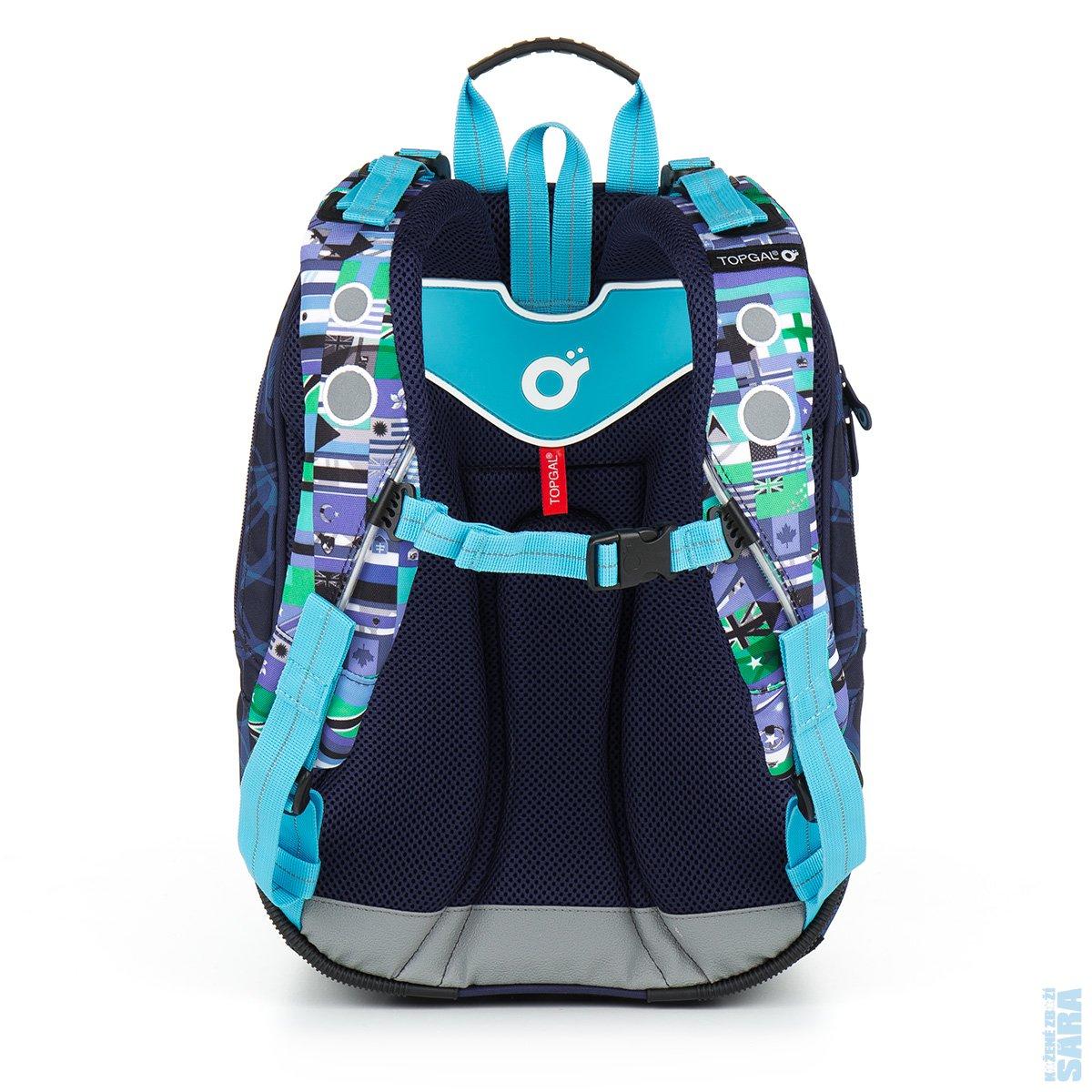 SADA PRO ŠKOLÁKA SET LARGE   Školní batoh CHI 884 D blue + penál CHI ... 7d80e57732