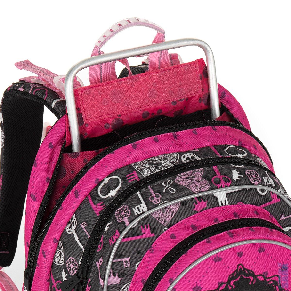953f18e7536 Školní batoh CHI 875 H pink - Doprava zdarma