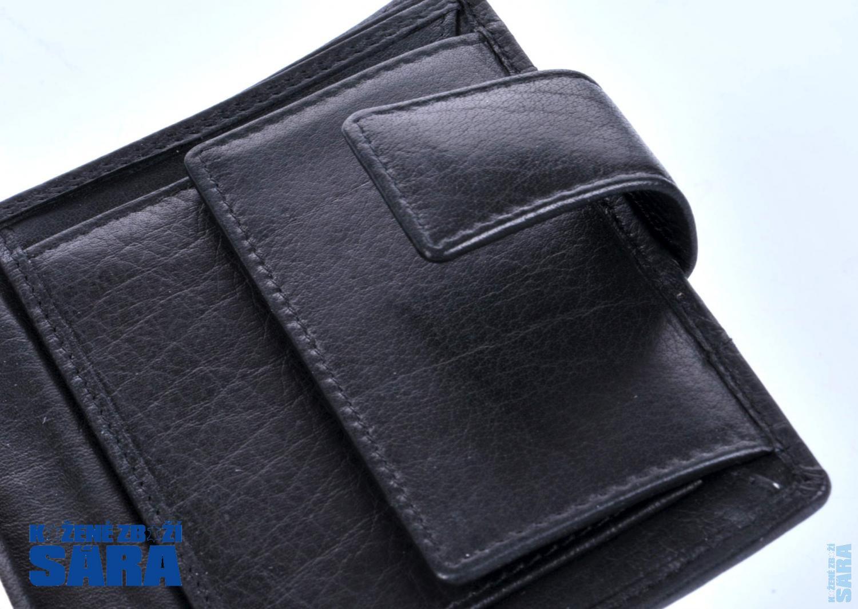 Pánská kožená peněženka V-99/H černá broušená, Lagen : Kožené zboží SÁRA - kabelky, aktovky ...