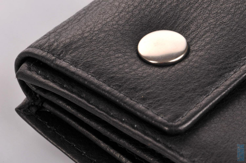 2fe91818004 Pánská kožená peněženka s řetízkem černá D-136