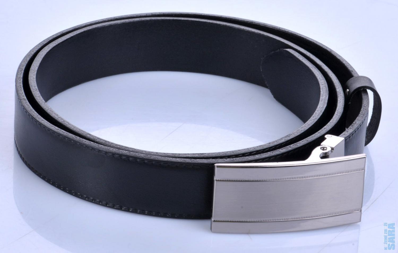 0843aa6d795 kožený pásek společenský 30-020-6PS černý