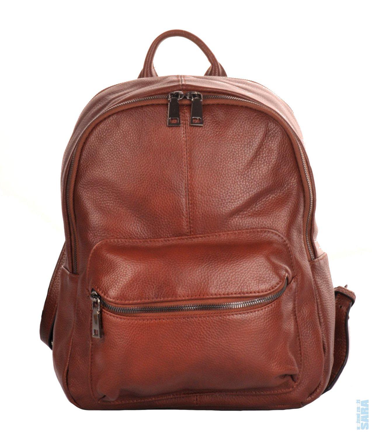 22559afdd2d dámský kožený batoh M892 hnědý