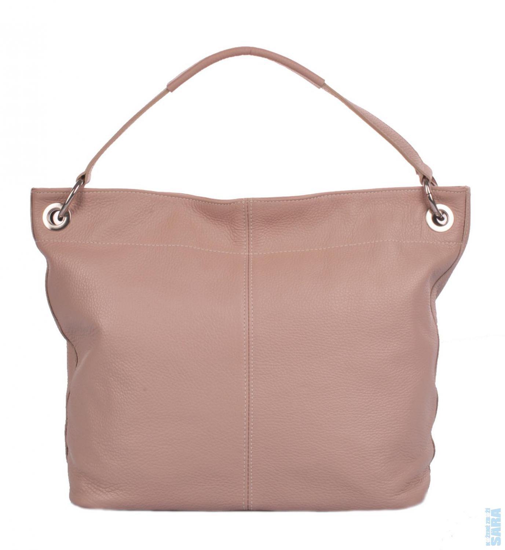 6df7447e8a Dámská kožená kabelka 1118 světle růžová (pudrová)