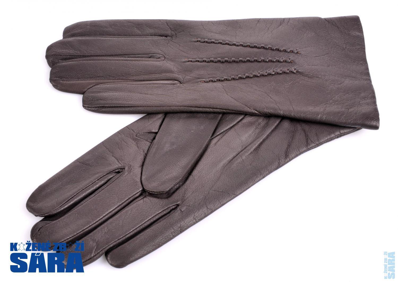 Pánské kožené rukavice 1422 hnědé velikost 9   Kožené zboží SÁRA ... f859896d52