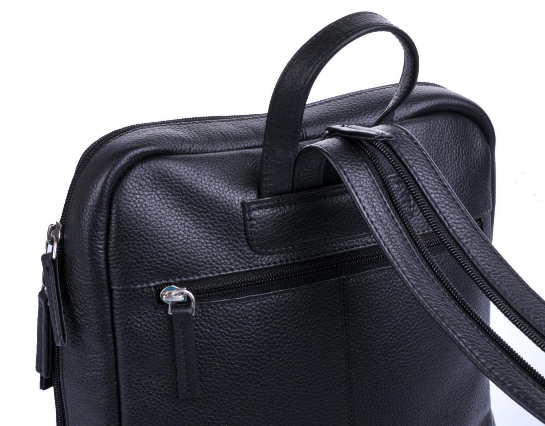 f73f313e31c Kožený dámský batoh 0610 černý