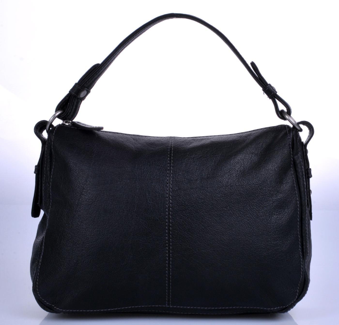 Kožená kabelka s jedním kratším a delším popruhem na rameno 93232baee05