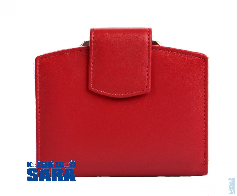 Dámská kožená peněženka s rámečkem 511-4357 červená 900586fd06