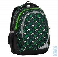 Školní batoh MAXVELL 8 B Black green white - Doprava zdarma 7c1fb4a7de