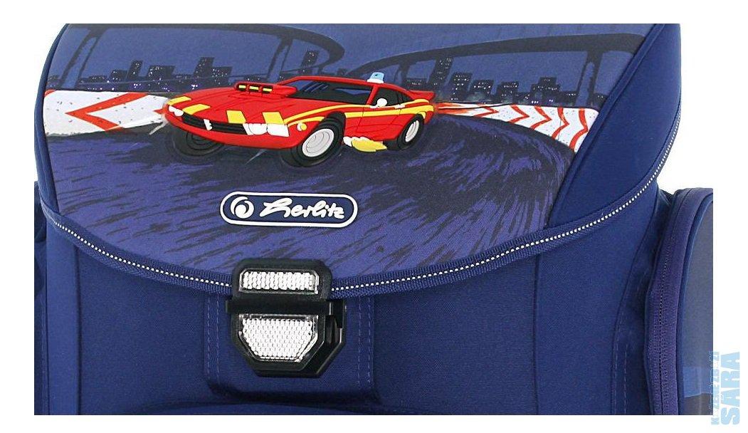 Školní aktovka Midi červené auto 11438181 10ad49ef85