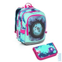 školní batoh - sada pro školačku CHI 790 D + penál CHI 825 D SET SMALL 1ccd512f18