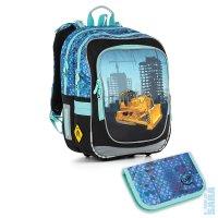3408ca69d73 SADA PRO ŠKOLÁKA SET SMALL - Školní batoh CHI 877 D blue + penál CHI 910