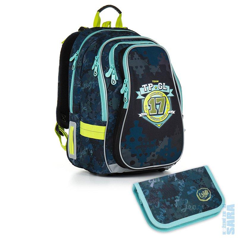 sada pro školáka set Small  Školní batoh CHI 878 D blue + Penál CHI 911 D  POSLEDNÍ SET 0c1acd5883