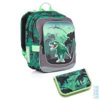 Školní batoh CHI 842 E green + penál CHI 850 E - Doprava zdarma 5e7c2970f0